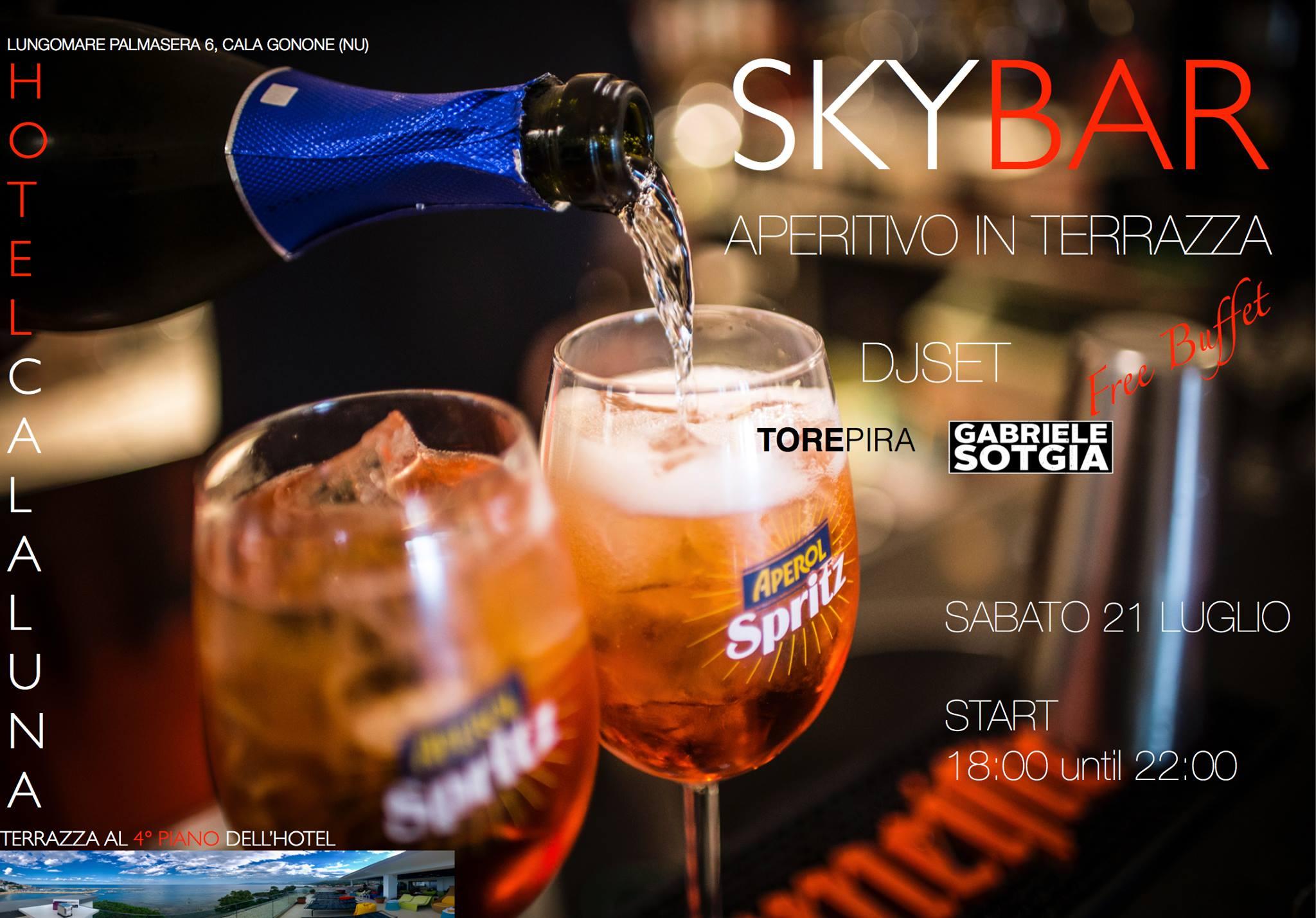 Aperitivo sky bar Cala Gonone